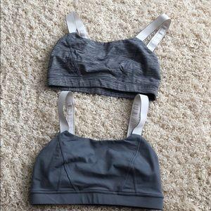 2 grey lulu bras